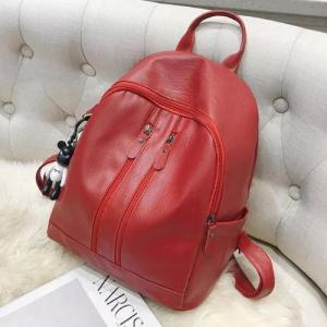 Medium Size Fashion Women Backpack - Red