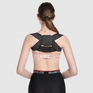 Upper Back Fix Brace Posture Warm Support Belt - Black