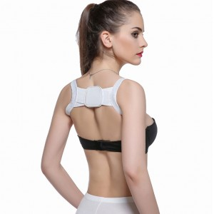 Breathable Perfect Posture Back Corrector Belt - White