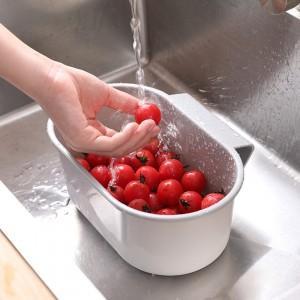Multifunctional Hanging Style Sink Drain Basket Storage Kitchen Gadgets - Gray