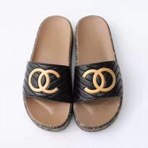 Rubber Sole Soft Casual Footwear Women Fashion Slippers - Black