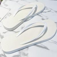 Plastic Flat Multi Occasion Casual Flip Flops - White