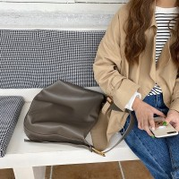 Synthetic Leather Wide Space Women Fashion Casual Bags - Gray