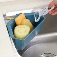 Multifunctional Triangle Shelf Filter Water Drain Basket Kitchen Gadgets - Blue