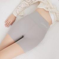High Waist Elastic Waist Stretchable Body Shaper Underwear - Gray