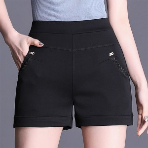 Body Fitted Viral Fashion Summer Special Shorts - Black