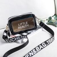 Alphabetic Shiny Zipper Closure Cute Traveller Messenger Bags - Black