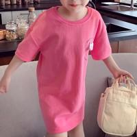 Cute Kids Wear Solid Color Angel Wings Top - Pink