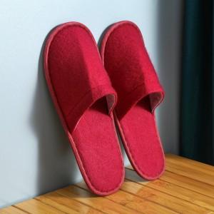 Disposable Thin Bottom For Hospitality Home Travel Salon Kitchen Portable Slipper - Red
