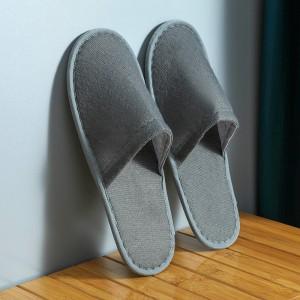 Disposable Thin Bottom For Hospitality Home Travel Salon Kitchen Portable Slipper - Gray