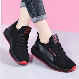 Sports Lace Closure Rubber Sole Sneakers - Red