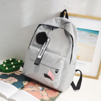 Large Size Women Travel and School Backpack - Gray