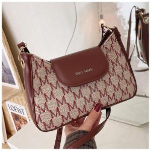 Designer Inspired Fashion Women Crossbody Messenger Bag - Wine Red