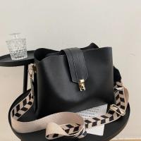 Medium Size Fashion Large Bucket Women Crossbody Bag - Black