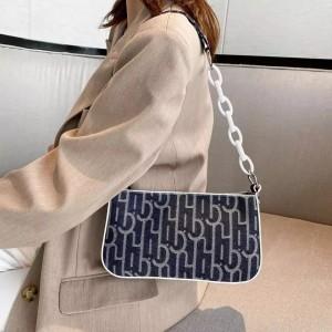 Fashion Women Crossbody Messenger Bag - Black and White