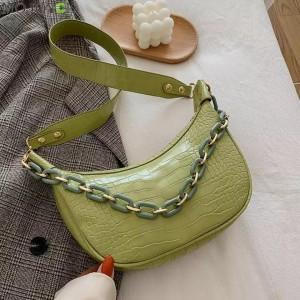 Small Size Ladies Fashion Shoulder Messenger Bag - Green