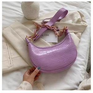 Small Size Ladies Fashion Shoulder Messenger Bag - Purple