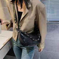 Small Size Ladies Fashion Shoulder Messenger Bag - Black