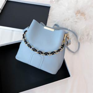 Small Size Fashion Small Bucket Crossbody Bag - Blue