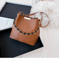 Small Size Fashion Small Bucket Crossbody Bag - Brown