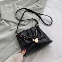 Small Size Ladies Cloud Shoulder Messenger Bag - Black