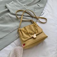 Small Size Ladies Cloud Shoulder Messenger Bag - Yellow