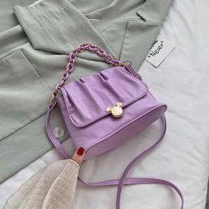 Small Size Ladies Cloud Shoulder Messenger Bag - Purple