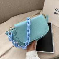 Small Size Fashion Shoulder Messenger Bag - Blue