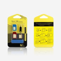 5 in 1 Nano Sim Card Adapters  Regular & Micro Sim Standard SIM Card & Tools - Multicolor