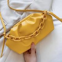 Small Size Women Fashion Crossbody Messenger Bags - Yellow