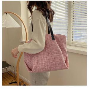 X-Large Size Ladies Fashion Shoulder Tote Bag - Pink