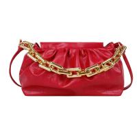 X Small Size Woman Fashion Chain Crossbody Messenger Bag - Red