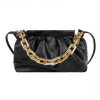 X Small Size Woman Fashion Chain Crossbody Messenger Bag - Black