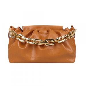 X Small Size Woman Fashion Chain Crossbody Messenger Bag - Brown
