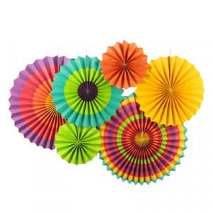 6 Pieces Home Party Articles Folding Decorative Set - Multi Color