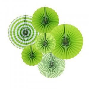 6 Pieces Home Party Articles Folding Decorative Set - Green