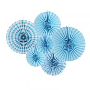 6 Pieces Home Party Articles Folding Decorative Set - Blue
