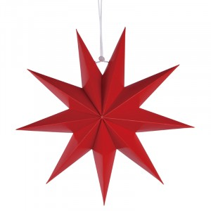 Nine Pointed Paper Star Home Party Decoration - Red