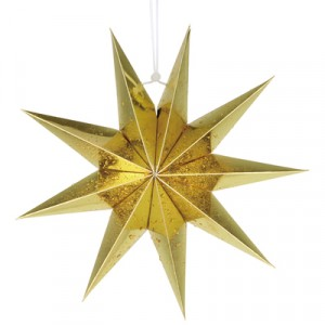 Nine Pointed Paper Star Home Party Decoration - Golden