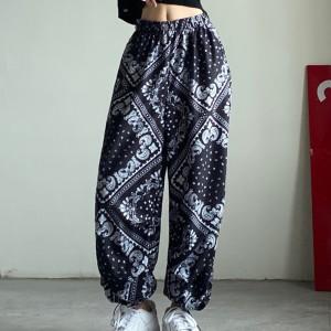 Elastic Waist Elegant Casual Wear Women Fashion Shorts - Black and White