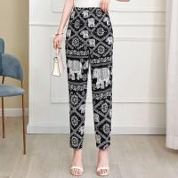 Elastic Waist Elegant Casual Wear Women Fashion Shorts - Black