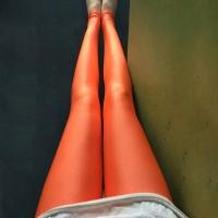 Narrow Bottom Sexy Body Fitted Women Fashion Trouser - Orange