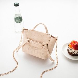 Animal Pattern Chain Strap Cute Messenger Bags - Beige
