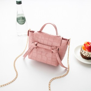 Animal Pattern Chain Strap Cute Messenger Bags - Pink