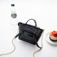 Animal Pattern Chain Strap Cute Messenger Bags - Black