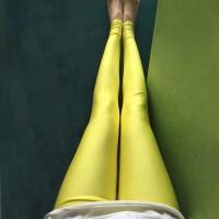 Narrow Bottom Sexy Body Fitted Women Fashion Trouser - Yellow