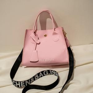 Synthetic Leather Stylish Vintage Style Handbags - Pink