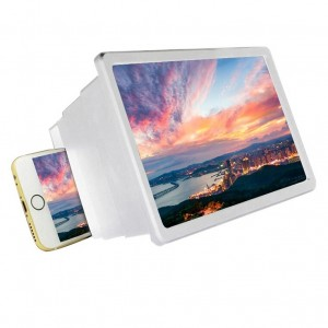 Mobile Phone Universal 3D HD Screen Magnifier - White
