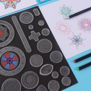 27 Pcs Multiple Patterns Drawing Geometric Ruler Set - Multi Color
