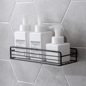 Bearing Capacity Shelf Bathroom Storage Rack - Black